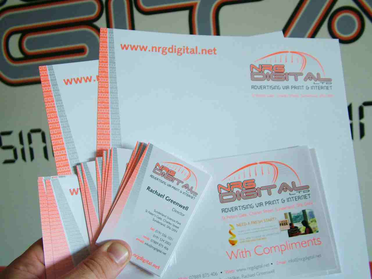 NRG Digital stationery